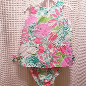 Lilly Pulitzer Baby Shift Dress w/Bloomers 18-24 m